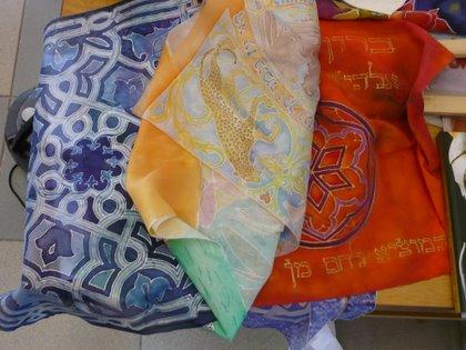 kézzel festett selyem judaica